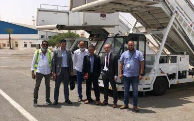 استقبال وفد قادم على متنها من الطيران المدني المالطي