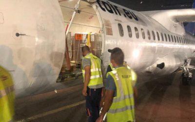 استقبل مطار معيتيقة الدولي إحدى رحلات fleetair المالطية